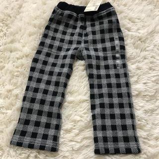 ムジルシリョウヒン(MUJI (無印良品))の無印良品 ベビー  パンツ フリース 黒 チェック(パンツ)