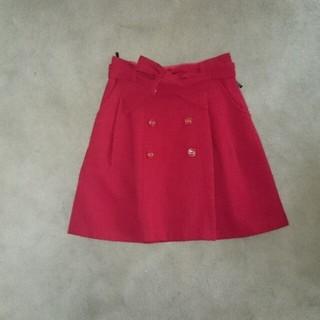 プーラフリーム(pour la frime)のプーラフリーム赤スカート(ミニスカート)