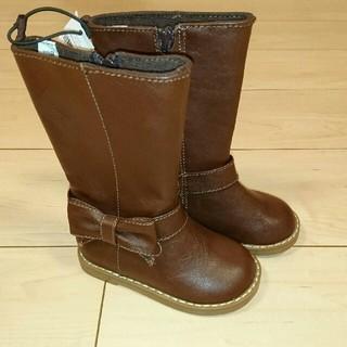 ベビーギャップ(babyGAP)の【新品未使用タグ付き】13.5 babygap ブーツ ブラウン リボン(ブーツ)