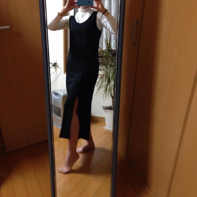 DKNY WOMEN(ダナキャランニューヨークウィメン)のダナギャラン スリット入りワンピース レディースのワンピース(ロングワンピース/マキシワンピース)の商品写真