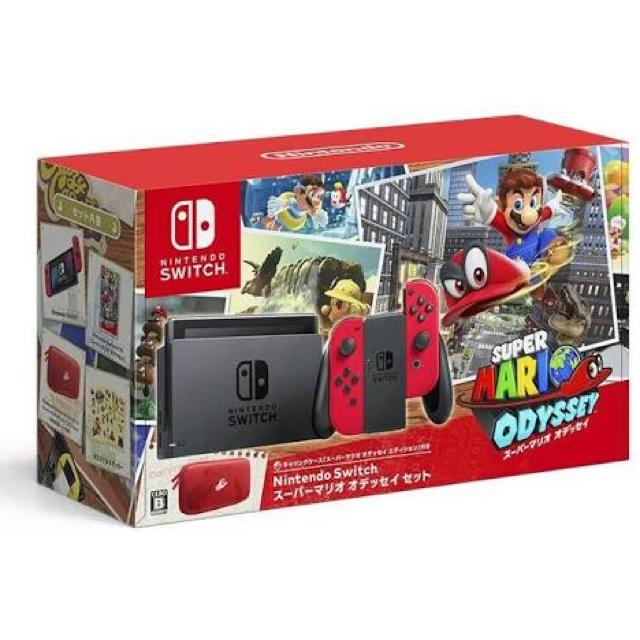 Nintendo Switch(ニンテンドースイッチ)の任天堂スイッチ マリオオデッセイセット エンタメ/ホビーのテレビゲーム(家庭用ゲーム本体)の商品写真