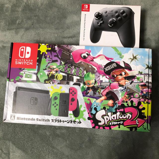 Nintendo Switch(ニンテンドースイッチ)のNintendo Swich 本体 プロコントローラー付き エンタメ/ホビーのテレビゲーム(家庭用ゲーム本体)の商品写真