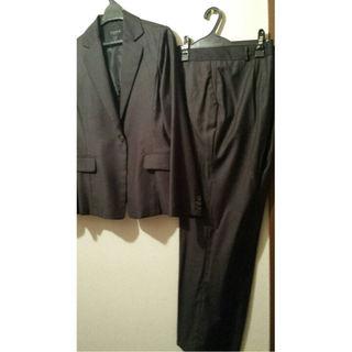 イタリア製素材パンツスーツ上下セット★大きめサイズ(スーツ)