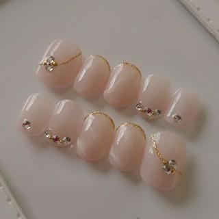 ヌードピンクベリーショート⭐ネイルチップ コスメ/美容のネイル(つけ爪/ネイルチップ)の商品写真