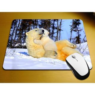 シロクマ 白熊マウスパッド しろくまマウスパッド 新品未使用品 送料無料(日用品/生活雑貨)