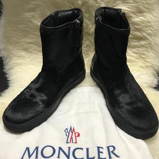 モンクレール(MONCLER)のモンクレール MONCLER 新品本物  ハラコ×レザー ブーツ 43(ブーツ)