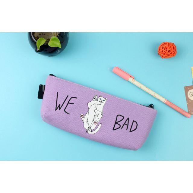 猫 ネコ 猫ペンケース 猫筆箱 パープル♪ 新品未使用品 送料無料 その他のペット用品(猫)の商品写真