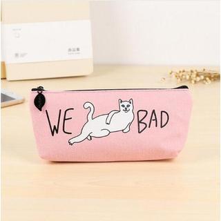 ねこ 猫ペンケース 猫筆箱 猫小物入れ ピンク♪ 新品未使用品 送料無料(猫)