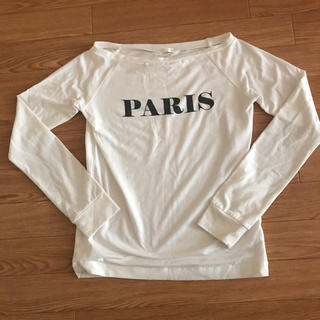 ジーユー(GU)のロンT 白 春服 Tシャツ(Tシャツ(長袖/七分))