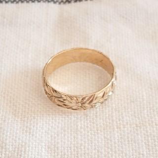 《Hawaiian jewelry》 マイレ  ゴールドメッキ 4mm 1号(リング(指輪))