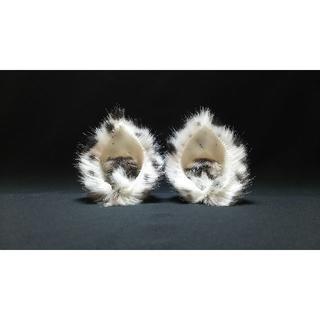 【 ゆきけものネコミミ 】ヘアピンねこ耳◆ユキヒョウ風◆頭の髪に着けられる猫耳(ヘアアクセサリー)