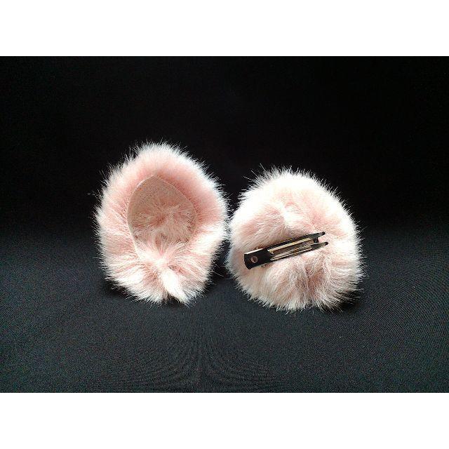 【 ピンクネコミミ 】ヘアピンねこみみ◆桃色ぶたさん風◆頭の髪に着けられる猫耳 ハンドメイドのアクセサリー(ヘアアクセサリー)の商品写真