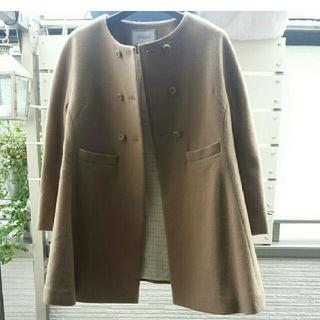 オペーク(OPAQUE)のオペーク 日本製 ノーカラーウールコート キャメルコート IENA好き様へ(ノーカラージャケット)
