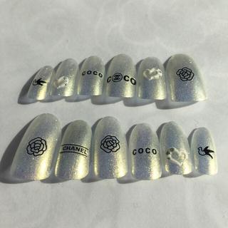 ネイルチップ ハンドメイド 18 コスメ/美容のネイル(つけ爪/ネイルチップ)の商品写真