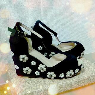 RANDA♥お花のサンダル♥(サンダル)
