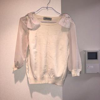 リランドチュール(Rirandture)のリランドチュール 肩リボンニット(ニット/セーター)
