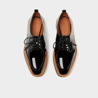 ザラ(ZARA)のZARA♡プラットフォームブルーチャーシューズ(ローファー/革靴)