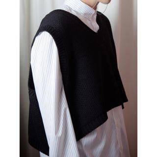 cropped knit vest mono(ニット/セーター)