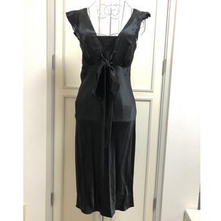 ヴァネッサブリューノ(vanessabruno)のVanessabruno シルク リボンワンピース ドレス(ひざ丈ワンピース)