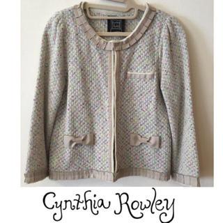 シンシアローリー(Cynthia Rowley)の美品 シンシアローリー♡ノーカラージャケット(ノーカラージャケット)