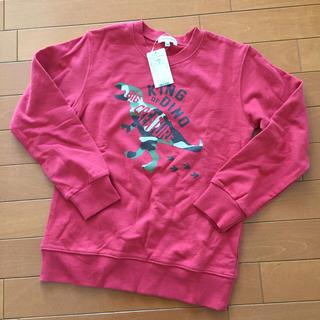 サンカンシオン(3can4on)のrikuto0000様専用【140】【新品】3can4on 恐竜×赤 トレーナー(Tシャツ/カットソー)