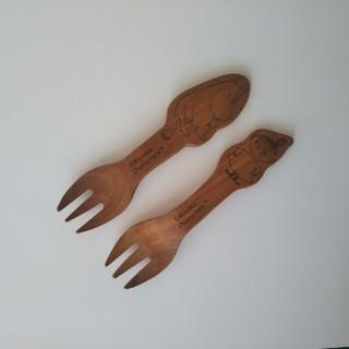 ウニコ(unico)の✯最終価格✯ unico ムーミン木製フォーク 2本セット(スプーン/フォーク)