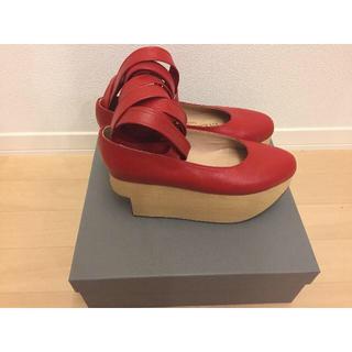 ヴィヴィアンウエストウッド(Vivienne Westwood)のロッキンホースバレリーナ 赤 viviennewestwood(ローファー/革靴)