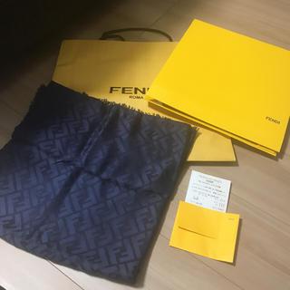 フェンディ(FENDI)の♡美品 FENDI ストール ネイビー♡(ストール/パシュミナ)