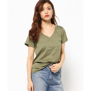 スライ(SLY)のSLY  TP シルケットVネックT/SH-S カーキ(Tシャツ(半袖/袖なし))