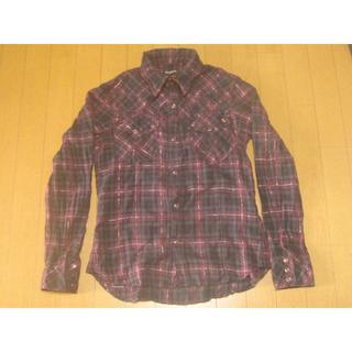 ハイダウェイ(HIDEAWAY)のハイダウェイニコル チェックシャツ ボルドーx黒(シャツ)