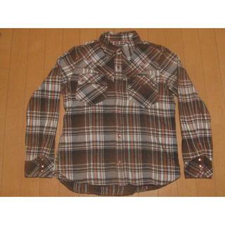 ハイダウェイ(HIDEAWAY)のハイダウェイニコル チェックシャツ 茶色(シャツ)