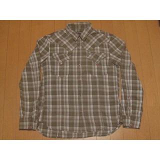 ハイダウェイ(HIDEAWAY)のハイダウェイニコル チェックシャツ カーキ(シャツ)