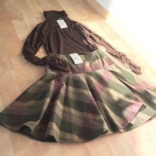 タータンショップヨーク(TARTANSHOP YORK)の新品♡YORKLAND ヨークランド ウールスカート11号(ひざ丈スカート)