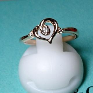 ヨンドシー(4℃)の4℃ k10 ダイヤモンド  ハート リング 5.5号(リング(指輪))