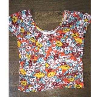 スライ(SLY)のSLY スライ カットソー Tシャツ 花柄 お洒落(Tシャツ(半袖/袖なし))