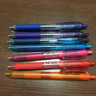 ミツビシエンピツ(三菱鉛筆)のボールペン7色(ペン/マーカー)