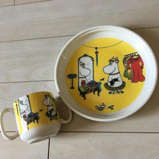 イッタラ(iittala)のお値下げ 新品 イッタラ ムーミン 子供 ベビー プレート カップ セット(食器)