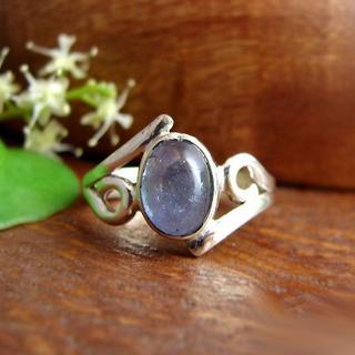カイヤナイトリング *8号   新品   SV925   天然石 (リング(指輪))