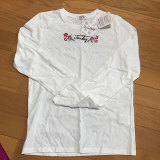 シマムラ(しまむら)の新品 女児長袖tシャツ チョーカー付き(Tシャツ/カットソー)