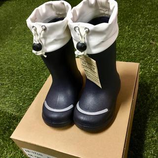 ムジルシリョウヒン(MUJI (無印良品))の無印 キッズ レインブーツ 長靴 雨靴 無印良品 ネイビー 子供 13-18cm(長靴/レインシューズ)