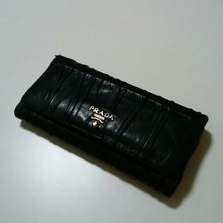 プラダ(PRADA)のPRADA 長財布 黒 使用感あり(財布)