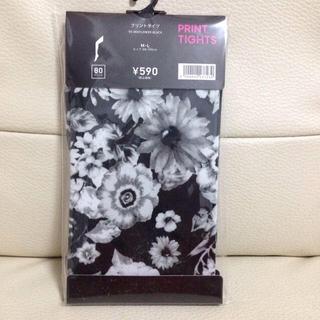 ジーユー(GU)の花柄タイツ(タイツ/ストッキング)