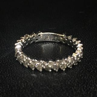 K18WG ダイヤ 0.5カラット リング 5.5号(リング(指輪))