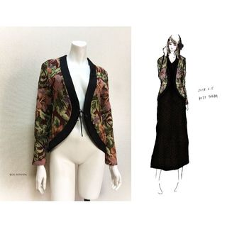 【1点もの・デザイン画付き】ゴブラン織りソフトジャケット(カーディガン)