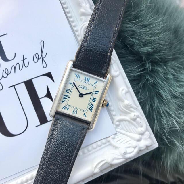 info for 8066d 8d586 美品✨カルティエ Cartier マストタンク シルバー腕時計 | フリマアプリ ラクマ