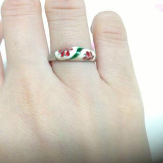 赤のお花の指輪(リング(指輪))