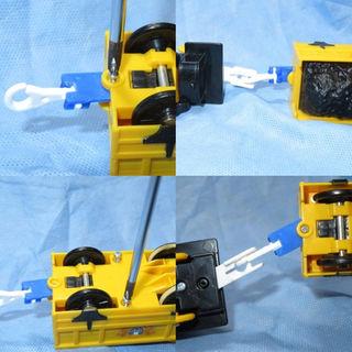 プラレール2両目動力車用連結部品(3Dプリンタ自作)【青色】(その他)