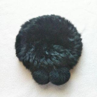 メゾピアノ(mezzo piano)のmezzo piano ブラックファーベレー帽(帽子)