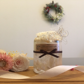 white rose ※アロマワックスケーキ (アロマ/キャンドル)