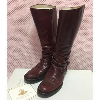 ジェーンマープル(JaneMarple)の定価6万 ジェーンマープル JaneMarple 英国風乗馬ロングブーツ(ブーツ)